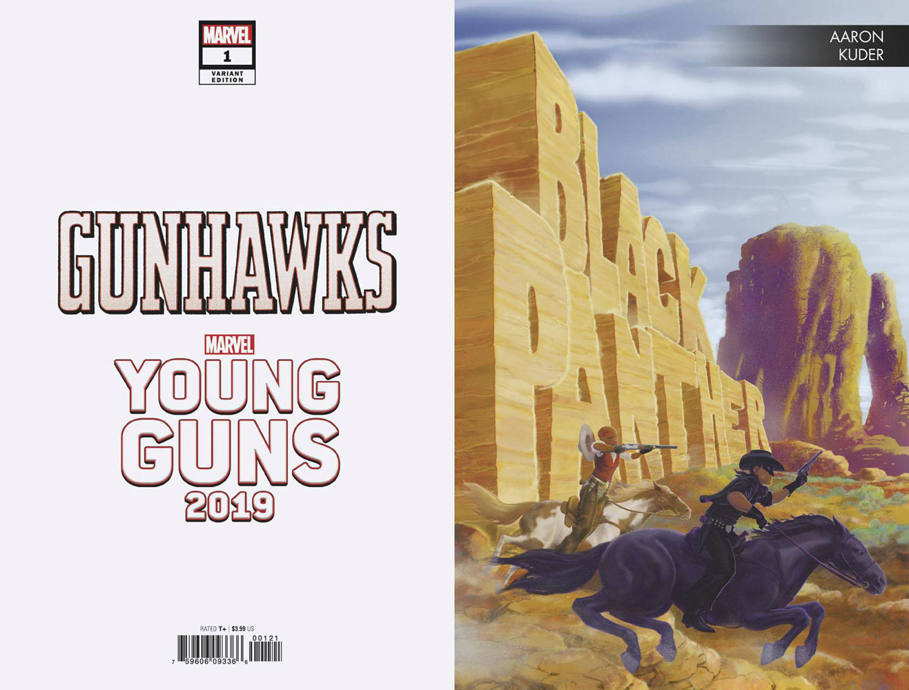 Gunhawks #1 (variant Young Guns cover - Kuder)  [2019] - Marvel Comics