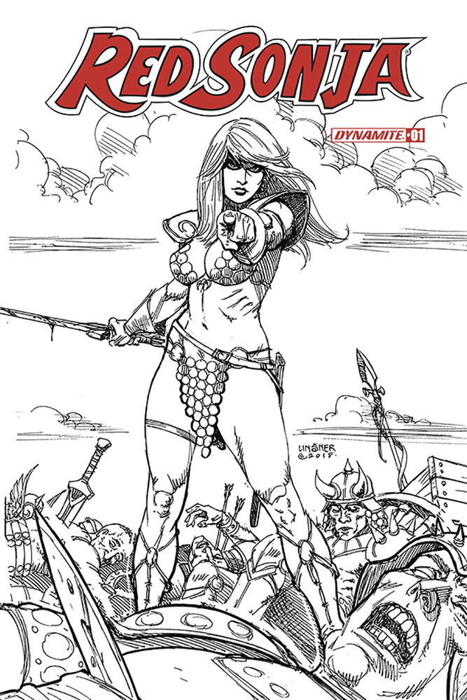 Image: Red Sonja Vol. 05 #1 (incentive cover - Linsner B&W) (30-copy) L  [2019] - Dynamite