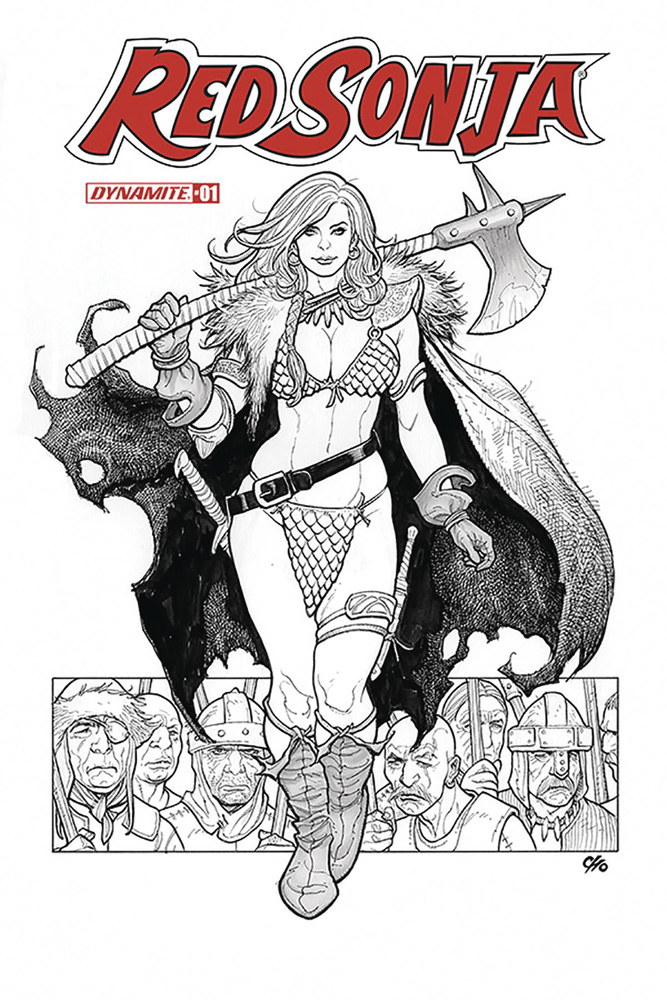 Image: Red Sonja Vol. 05 #1 (incentive cover - Cho B&W) (40-copy)  [2019] - Dynamite