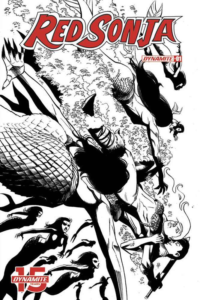 Image: Red Sonja Vol. 05 #1 (incentive cover - Seduction B&W) (50-copy)  [2019] - Dynamite