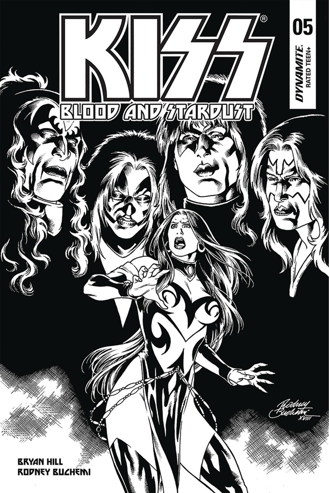 Image: Kiss: Blood and Stardust #5 (incentive cover - Buchemi B&W) (10-copy)  [2019] - Dynamite