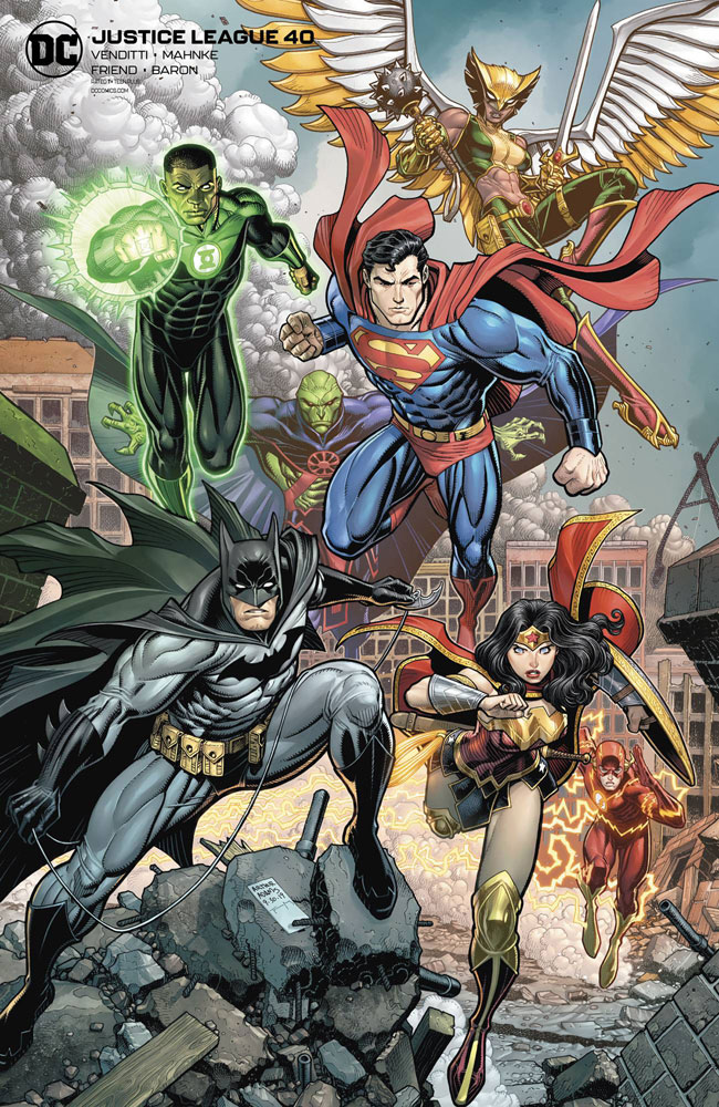 Image: Justice League #40 (variant card stock cover - Arthur Adams) - DC Comics