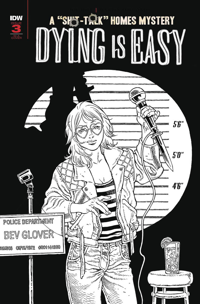 Image: Dying Is Easy #3 (incentive 1:10 B&W cover - Rodriguez)  [2020] - IDW Publishing