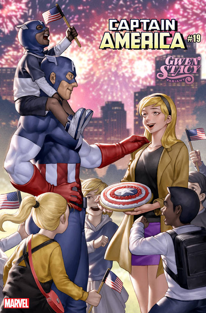 Image: Captain America #19 (variant Gwen Stacy cover - Yoon) - Marvel Comics