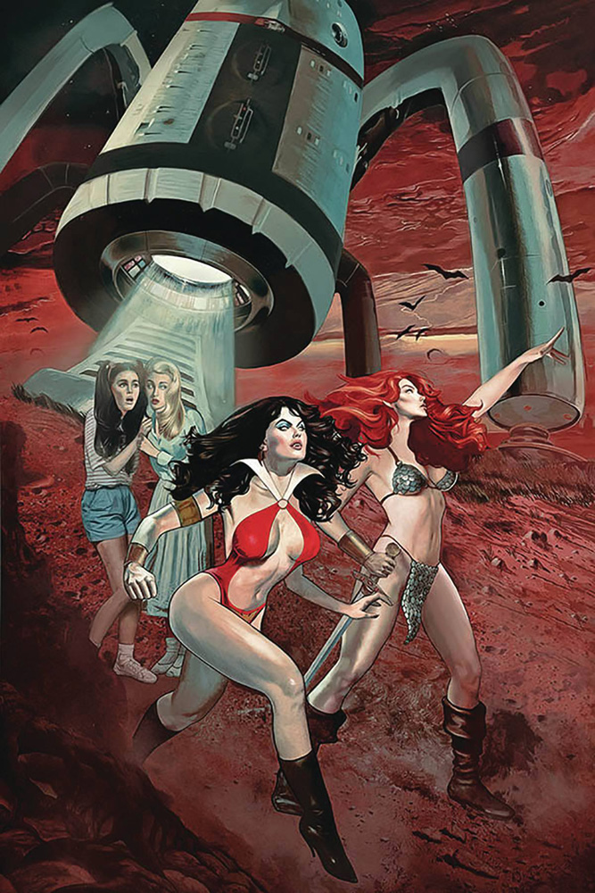 Image: Red Sonja and Vampirella Meet Betty and Veronica #9 (variant cover - Dalton virgin)  [2020] - Dynamite