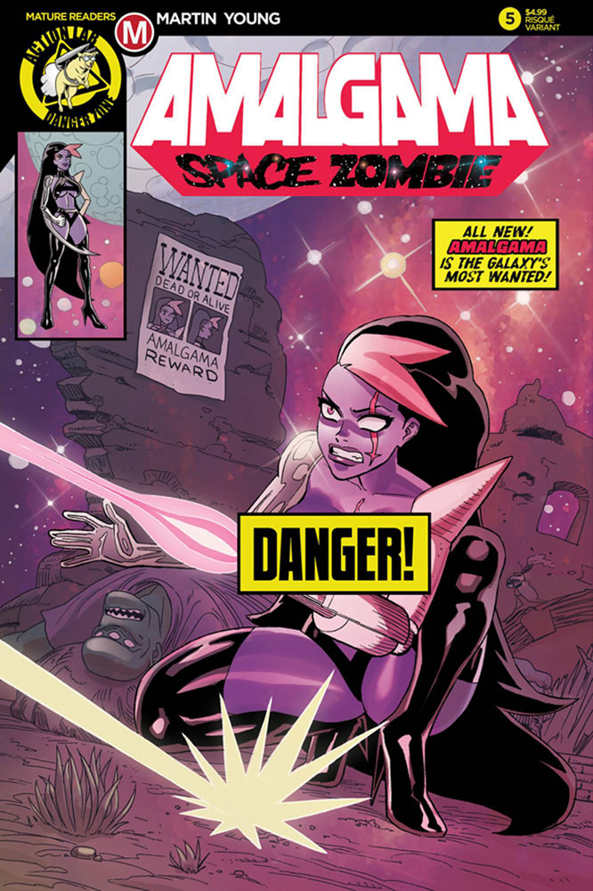Image: Amalgama Space Zombie #5 (cover B - Young risque) - Action Lab - Danger Zone