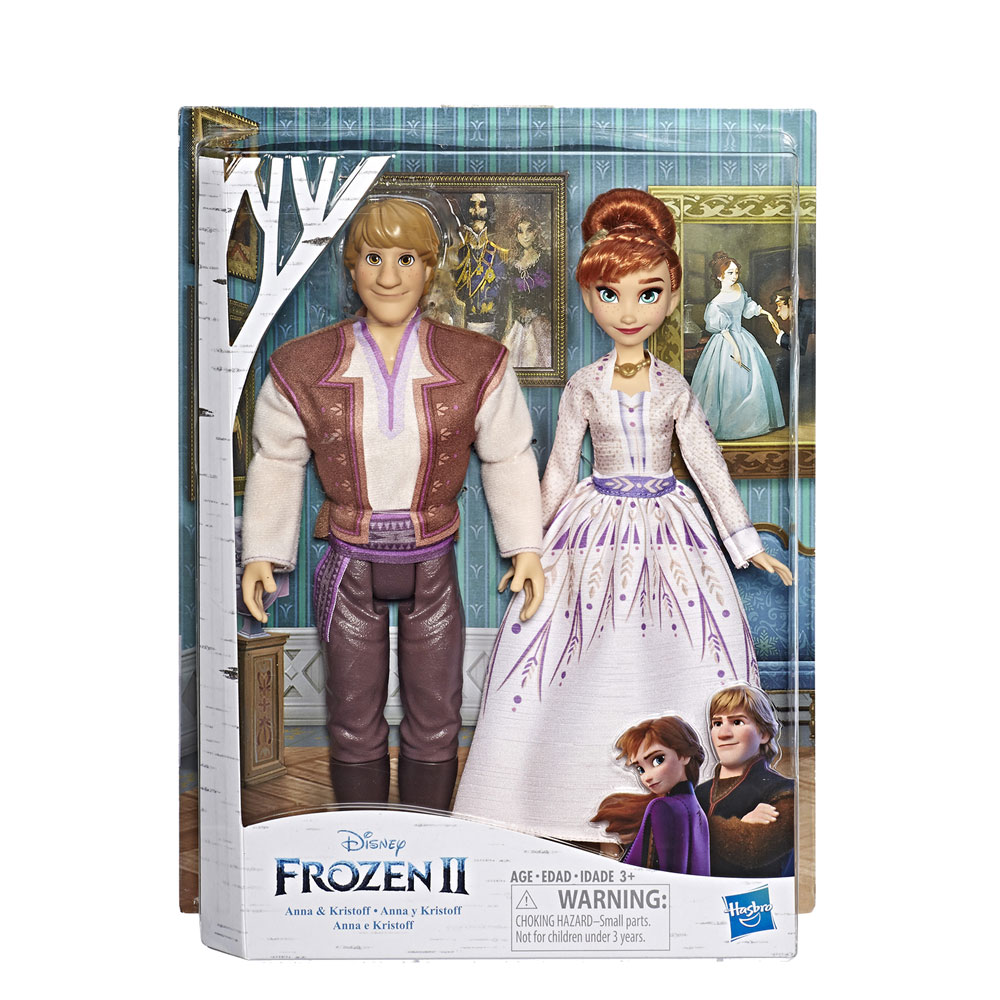 Frozen 2 Anna & Kristoff Fashion Doll 2-Pack Case  - Hasbro Toy Group