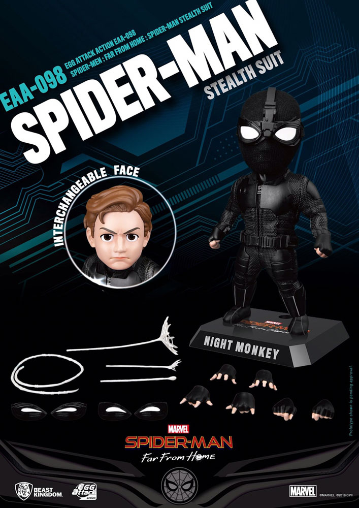 Spider-Man: Far from Home EAA-098 Action Figure - Spider-Man  (Stealth) - Beast Kingdom Co., Ltd