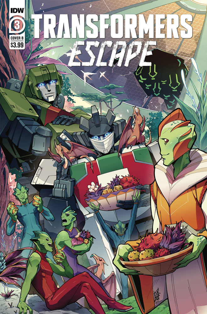 Image: Transformers Escape #3 (cover B - Umi Miyan) - IDW Publishing