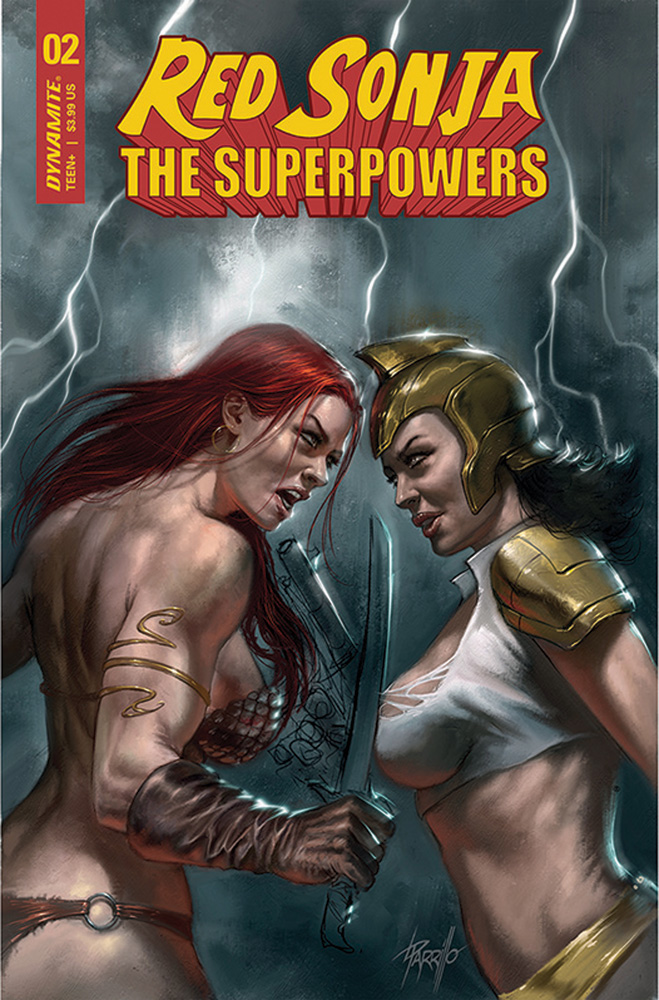 Image: Red Sonja: The Superpowers #2 (cover A - Parrillo) (Web Super Special) - Dynamite
