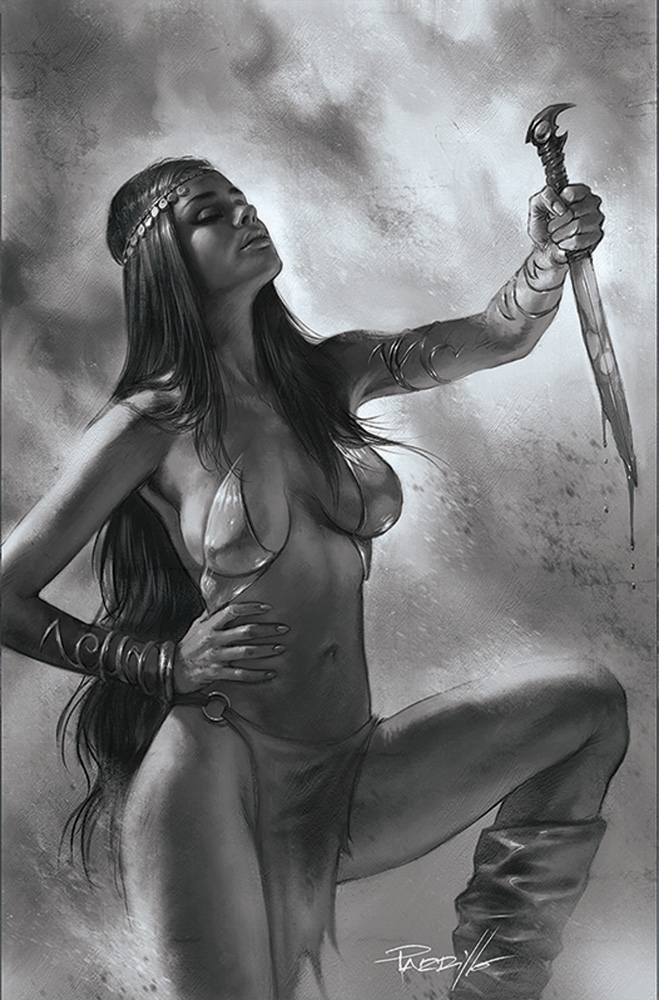 Image: Dejah Thoris [2019] #12 (incentive 1:50 cover - Parrillo B&W virgin) - Dynamite