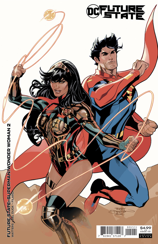 Image: Future State: Superman / Wonder Woman #2 (variant card stock cover - Terry Dodson and Rachel Dodson) - DC Comics