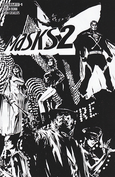 Image: Masks 2 #1 (Guice b&w variant incentive cover - 01081) (30-copy) - Dynamite