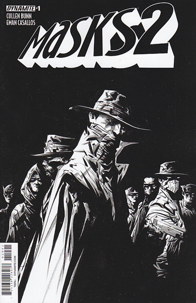 Image: Masks 2 #1 (Lee b&w variant incentive cover - 01091) (40-copy) - Dynamite