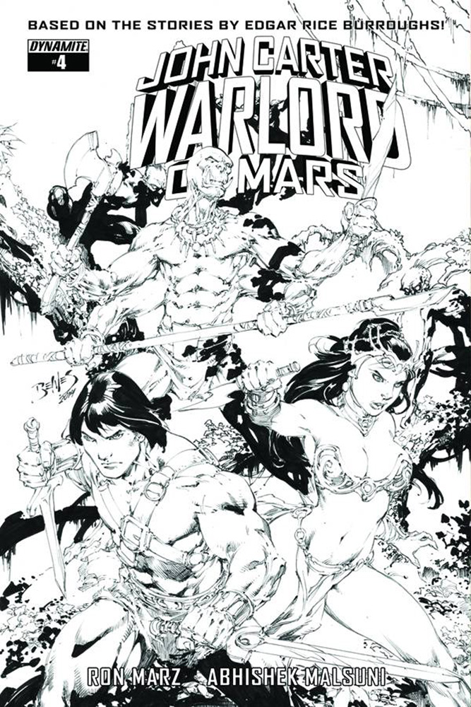 Image: John Carter: Warlord of Mars #6 (variant incentive cover - Benes B&W) (20-copy) - Dynamite