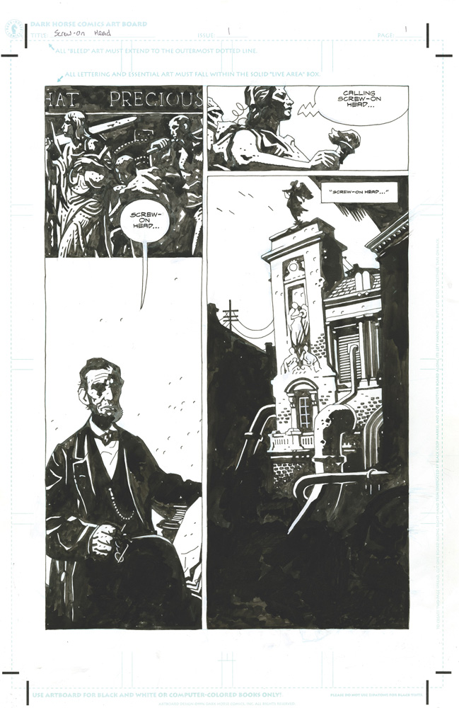 Mike Mignola's Amazing Screw on Head & Other Curious Objects Artist's Edition HC  - IDW Publishing
