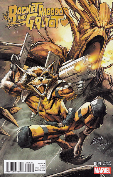 Image: Rocket Raccoon and Groot #4 (Liefeld Classic variant cover)  [2016] - Marvel Comics