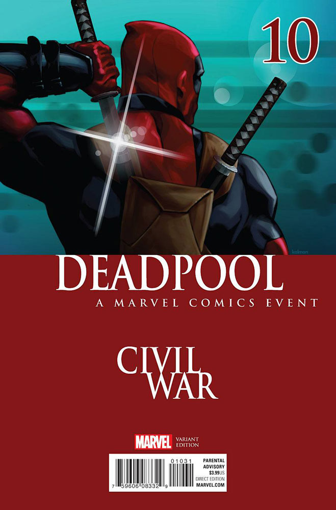 Image: Deadpool #10 (Andrasofszky Civil War variant)  [2016] - Marvel Comics