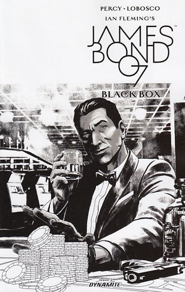 Image: James Bond [2017] #2 (Masters b&w incentive cover - 02051) (20-copy)  [2017] - Dynamite