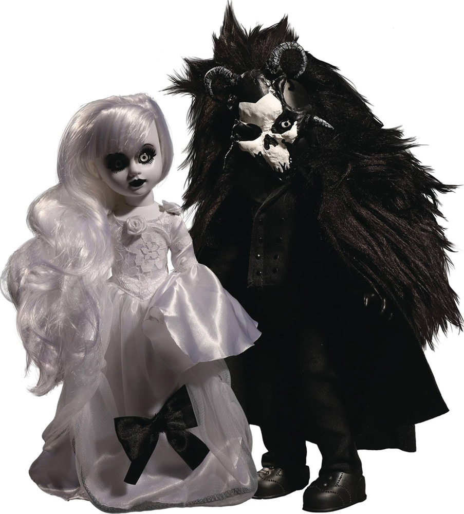 Image: Living Dead Dolls: Scary Tales Beauty & the Beast 2-Pack Case  - Mezco Toys