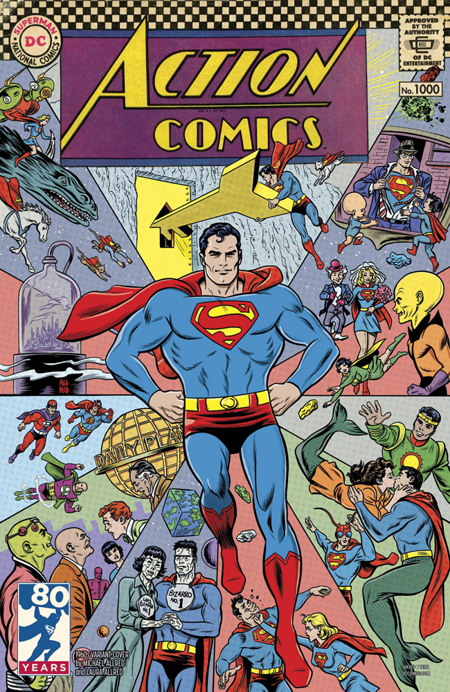 Image: Action Comics #1000 (variant 1960s cover - Michael Allred) - DC Comics