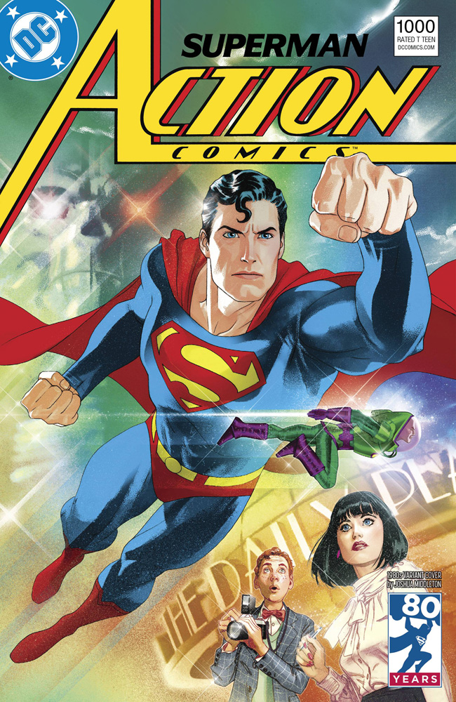 Image: Action Comics #1000 (variant 1980s cover - Joshua Middleton) - DC Comics
