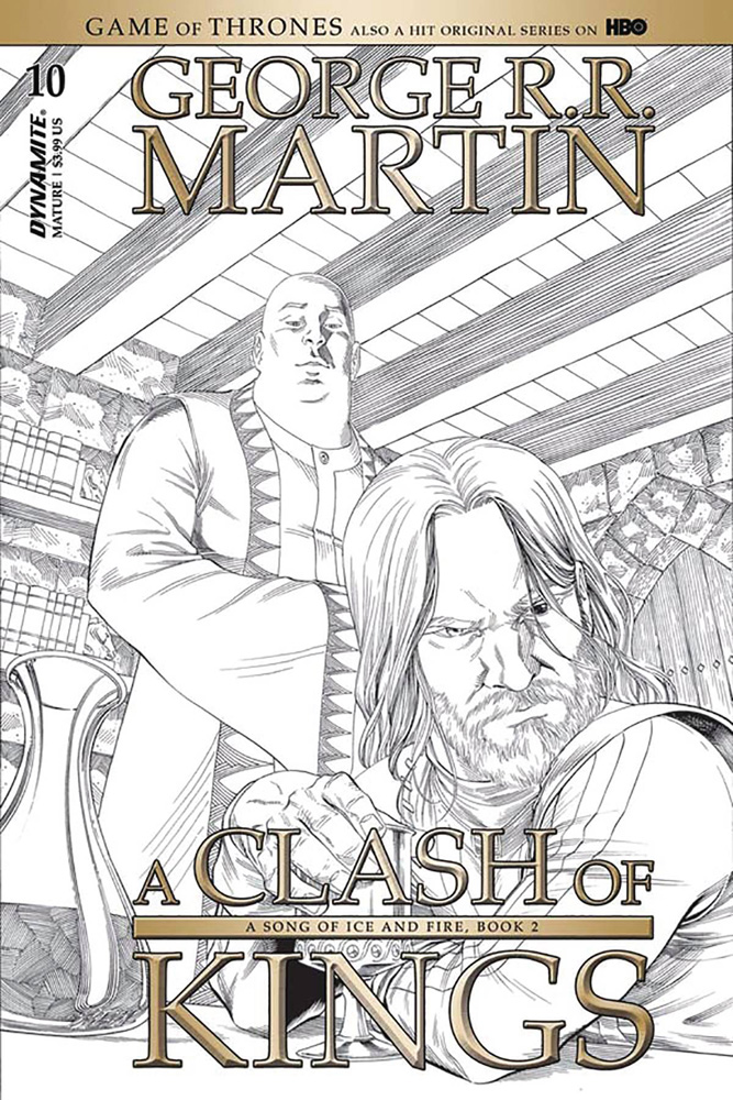 Image: George R. R. Martin's A Clash of Kings #10 (cover C incentive - Miller B&W) (10-copy) - Dynamite