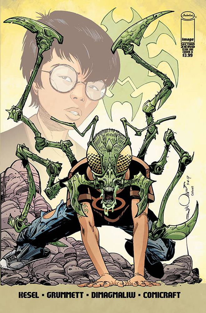 Section Zero #1 variant cover by Walter Simonson featuring 24-Hour Bug.