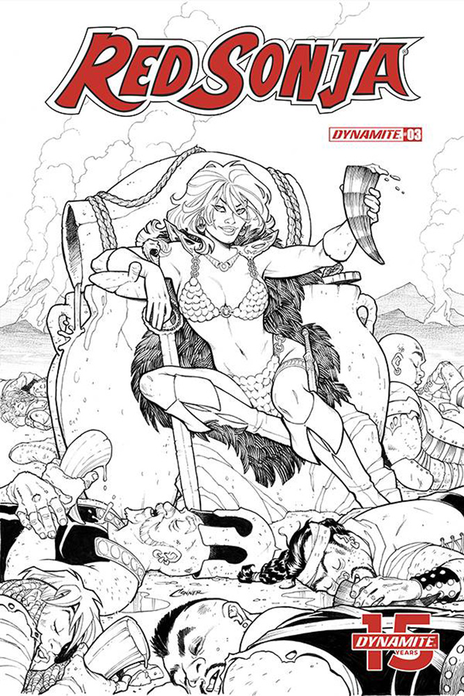 Image: Red Sonja Vol. 05 #3 (incentive cover - Conner B&W) (20-copy)  [2019] - Dynamite