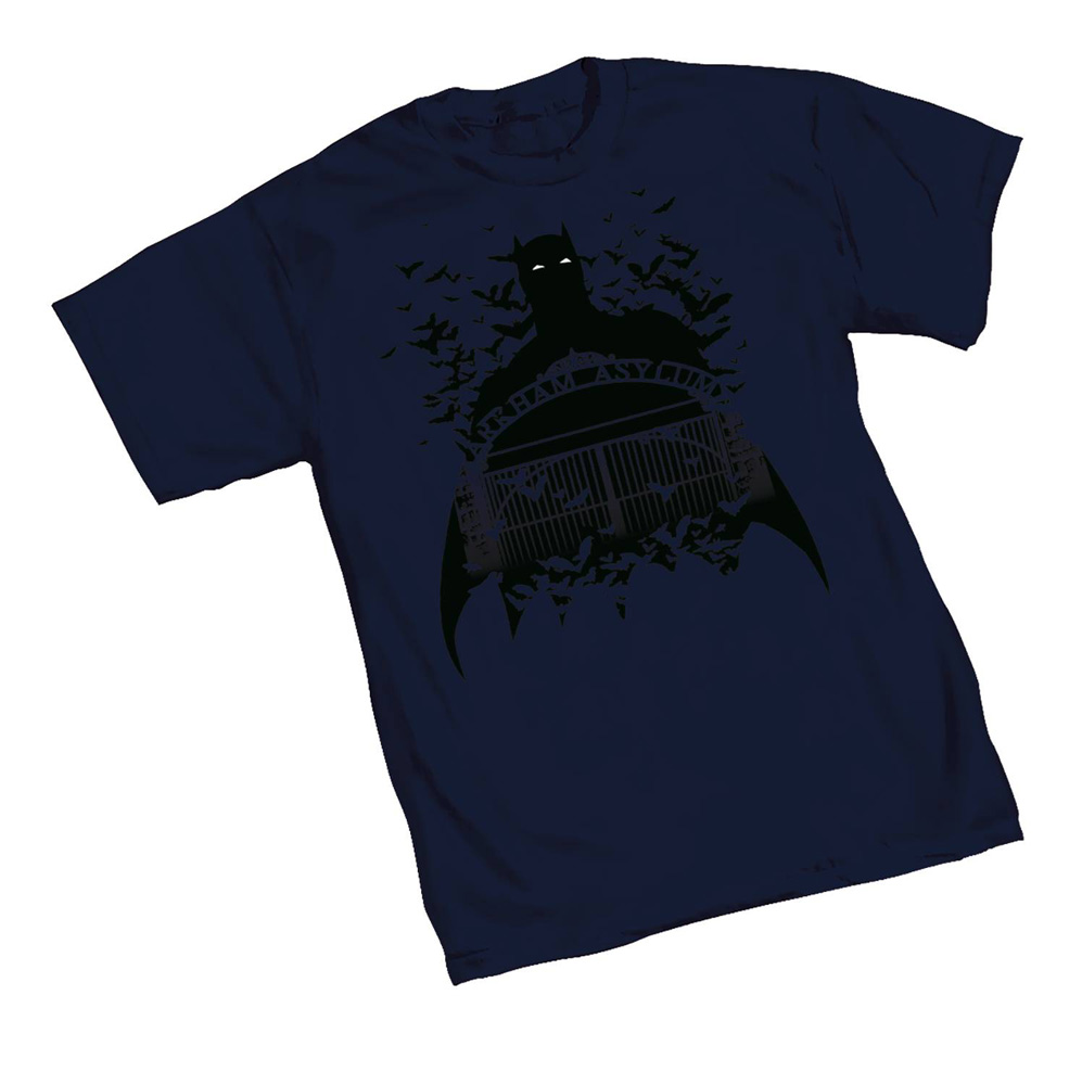Image: Batman T-Shirt: Arkham Gates  (XXL) - Graphitti Designs