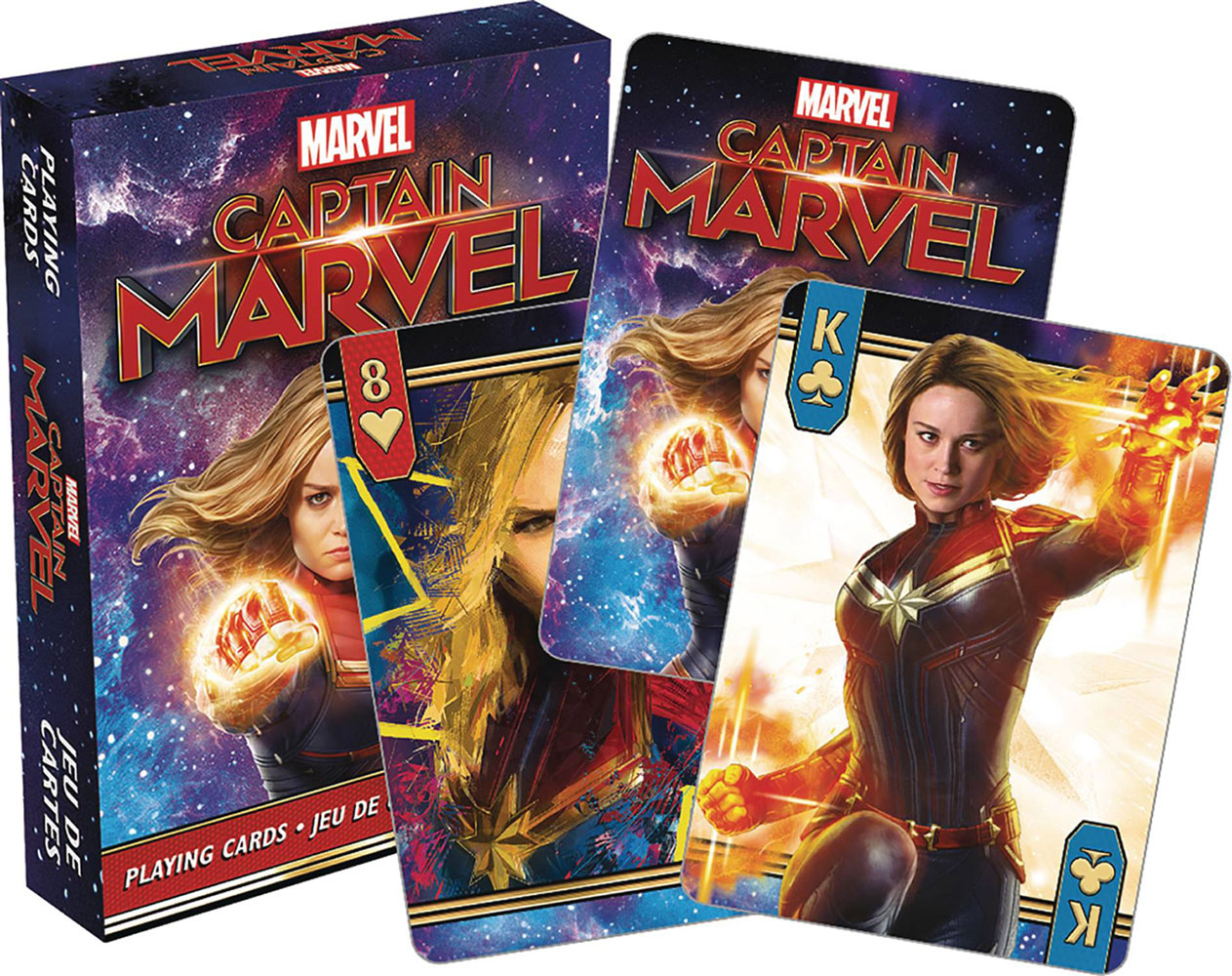Image: Marvel Playing Cards: Captain Marvel  -