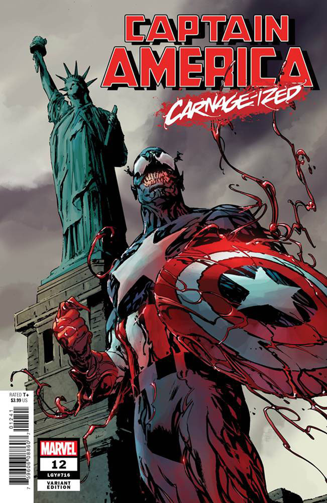 Image: Captain America #12 (variant cover - Guice Carnage-ized) - Marvel Comics