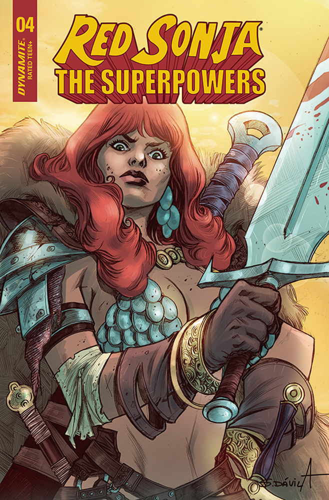 Image: Red Sonja: The Superpowers #4 (cover G - Davila) - Dynamite