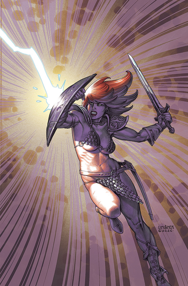 Image: Red Sonja: The Superpowers #4 (variant cover - Linsner virgin) - Dynamite