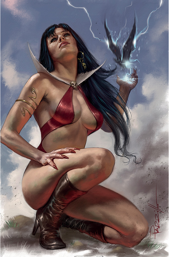 Image: Vengeance of Vampirella #17 (variant cover - Parrillo virgin) - Dynamite