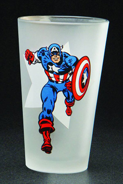 Image: Toon Tumblers Captain America Clear Pint Glass  -