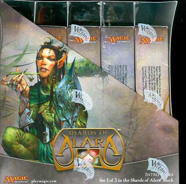 Image: Magic the Gathering: TCG Shards Alara Intro Pack Display  - Wizards of the Coast