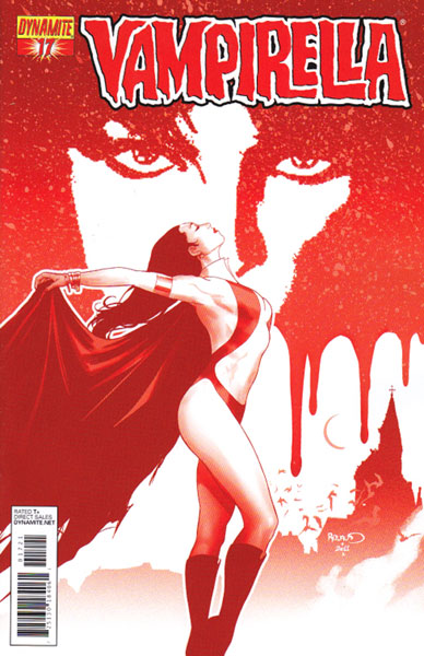 Image: Vampirella #17 (15-copy Renaud red incentive cover) (v15) - D. E./Dynamite Entertainment