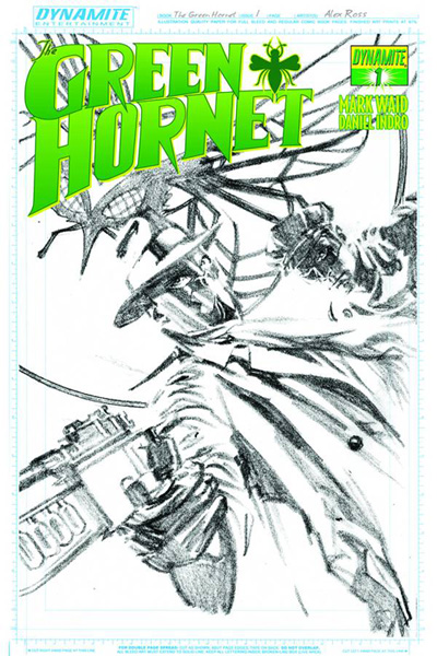 Image: Mark Waid Green Hornet #1 (25-copy Ross sketch incentive cover) - Dynamite