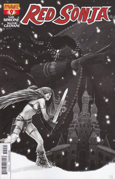 Image: Red Sonja #9 (25-copy incentive cover - Hans B&W) - Dynamite