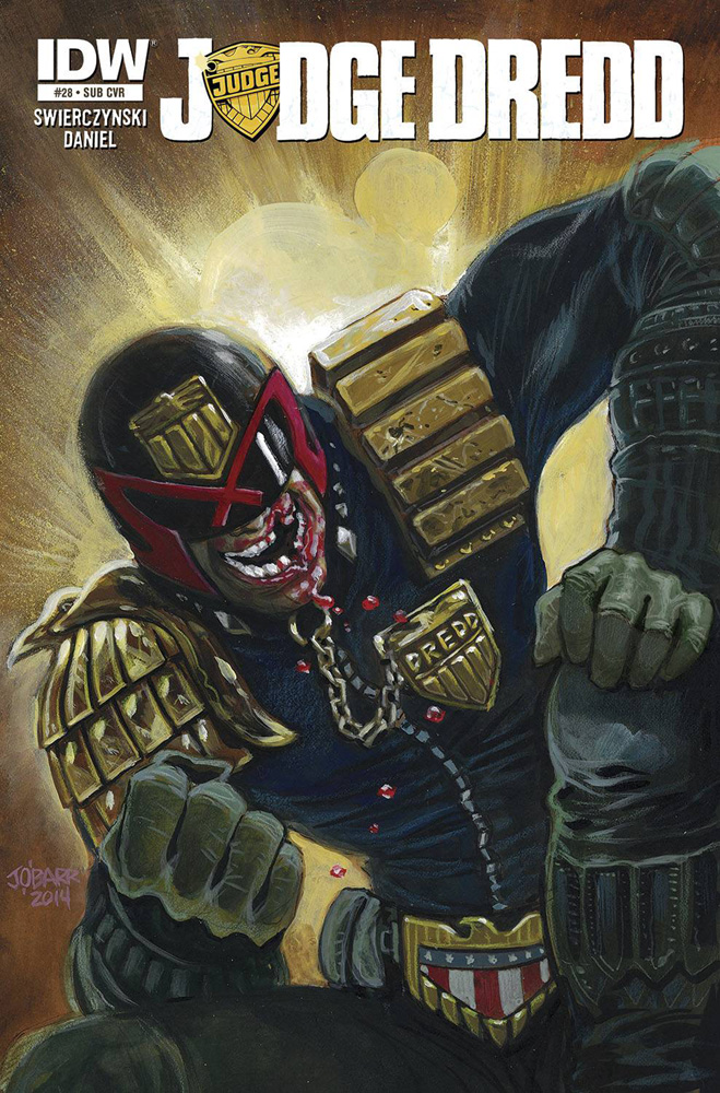 Image: Judge Dredd #28 (subscription cover - James O'Barr) - IDW Publishing
