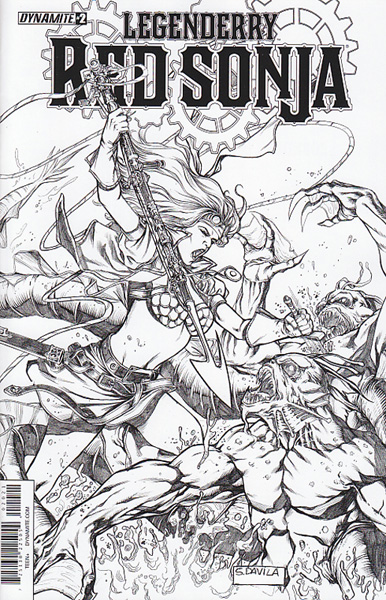 Image: Legenderry: Red Sonja #2 (variant incentive cover - Davila) (10-copy) - Dynamite