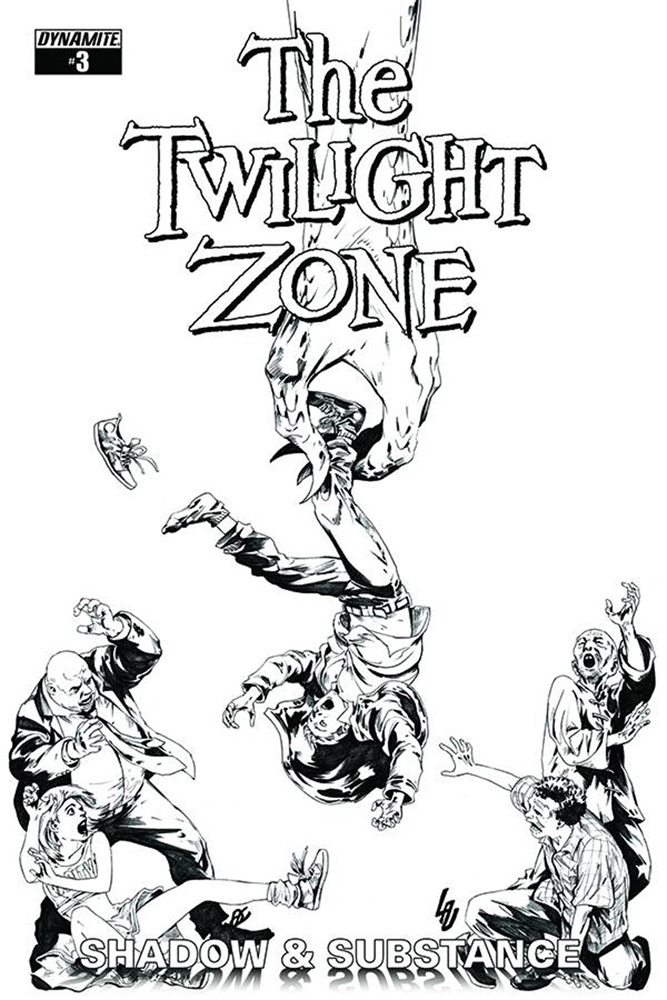 Image: Twilight Zone: Shadow and Substance #3 (Lau b&w variant incentive cover - 03051) (20-copy) - Dynamite