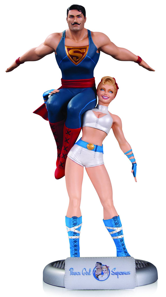 Image: DC Comics Bombshells Statue: Power Girl & Superman  - DC Comics