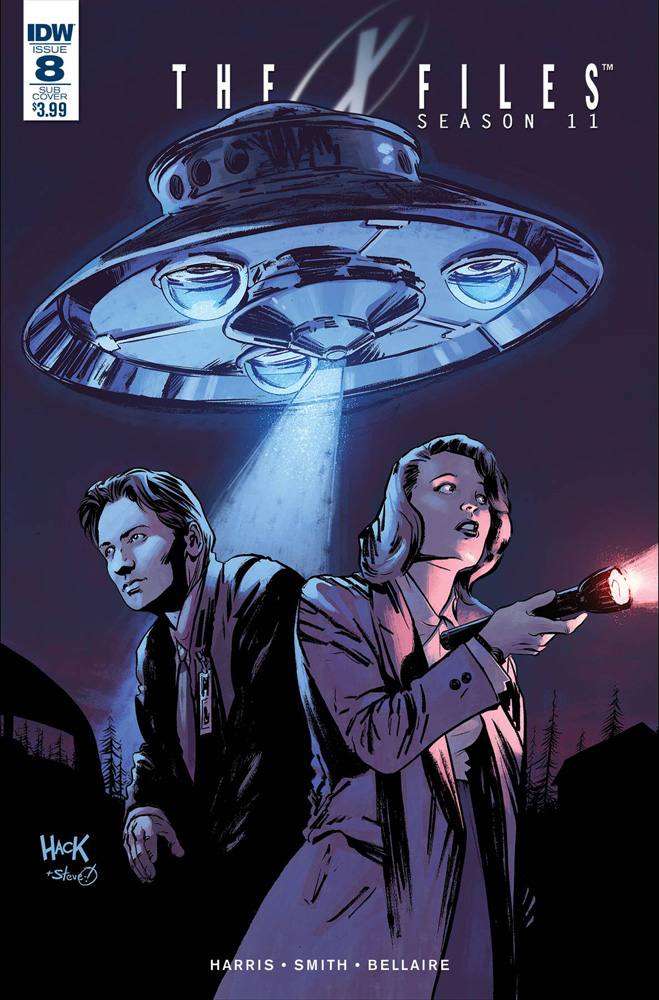 Image: X-Files: Season 11 #8 (subscription cover B - Hack) - IDW Publishing