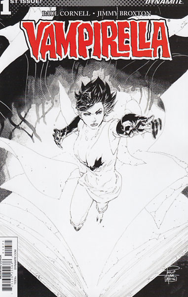 Image: Vampirella Vol. 04 #1 (Tan b&w incentive cover - 01071) (20-copy)  [2017] - Dynamite