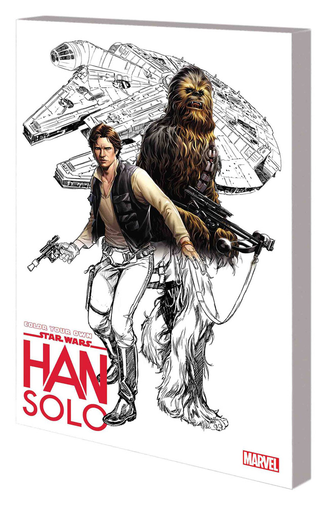 Image: Color Your Own Star Wars: Han Solo SC  - Marvel Comics