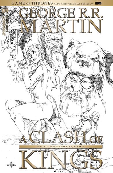 Image: George R. R. Martin's A Clash of Kings #9 (cover D incentive - Rubi B&W) (15-copy)  [2018] - Dynamite