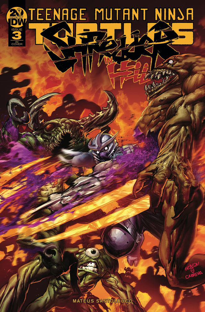 Image: Teenage Mutant Ninja Turtles: Shredder in Hell #3 (incentive cover - Gedeon) (10-copy) - IDW Publishing
