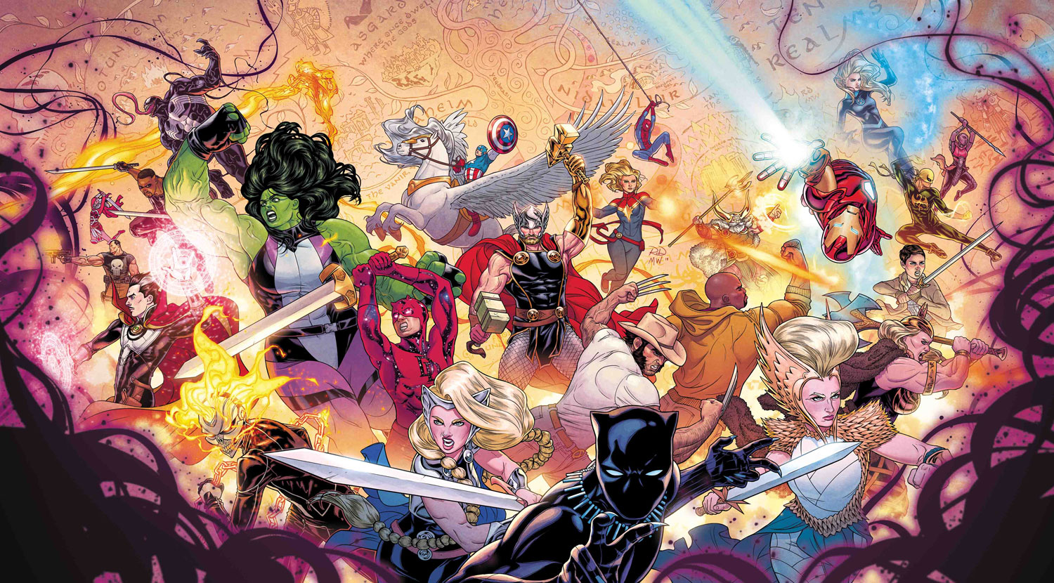 War of the Realms #1 Russell Dauterman variant cover